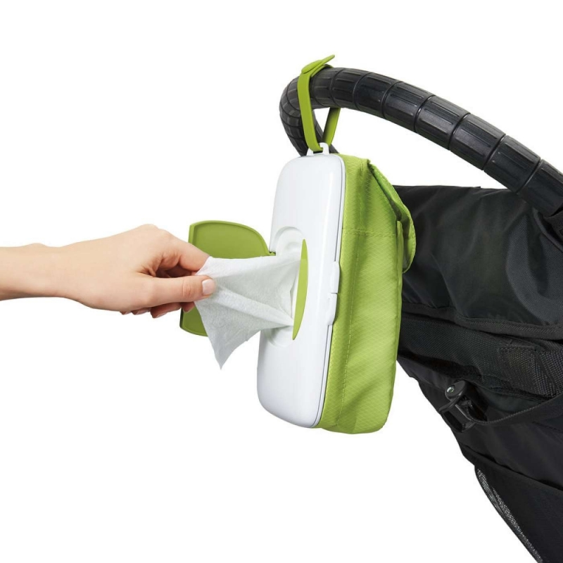 Oxo Tot On The Go Wipes Dispenser With Diaper Pouch Green