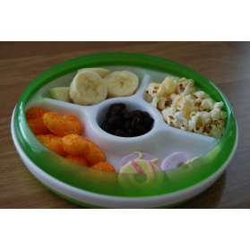 OXO TOT Divided Plate With Removable Ring - Green
