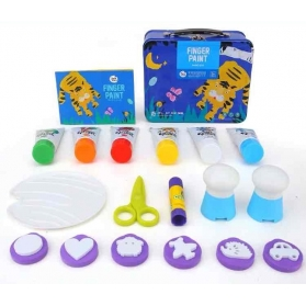 Joan Miro Finger Paint Magic Metal Box Set - Blue