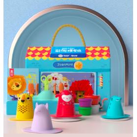 Joan Miro Super Soft Wheat Flour Base Modeling Dough Clay Playset - Hair Salon