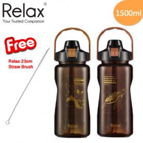 RELAX TRITAN WATER BOTTLE WITH STRAW (1500ml)