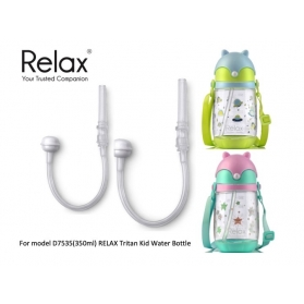 RELAX TRITAN KIDS WATER BOTTLE 350ml [REPLACEMENT STRAWS]