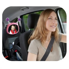 BENBAT Oly Active Car Mirror with Melody - Pink