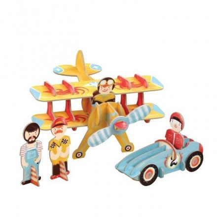 Racing Team 3D Playset
