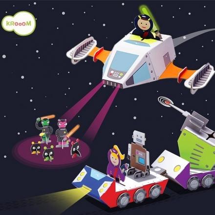 Krooom Galactic Police - Space Mission Playset