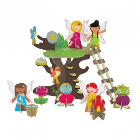 KROOOM Fairy Tree 3D Playset