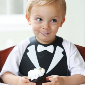 Make My Day Bib - Black Tuxedo Lookin Dapper