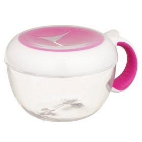 OXO TOT Flippy Snack Cup with Travel Cover Lid 235ml/8oz - Pink