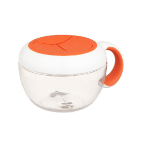 OXO TOT Flippy Snack Cup with Travel Cover Lid 235ml/8oz - Orange