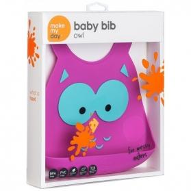 Make My Day Baby Bib - Owl