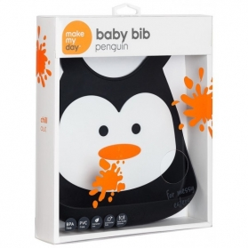 Make My Day Baby Bib - Penguin