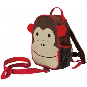 Skip Hop Zoo Let Mini Backpack with Rein - Monkey