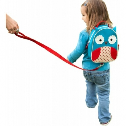 Skip Hop Zoo Let Mini Backpack with Rein - Owl