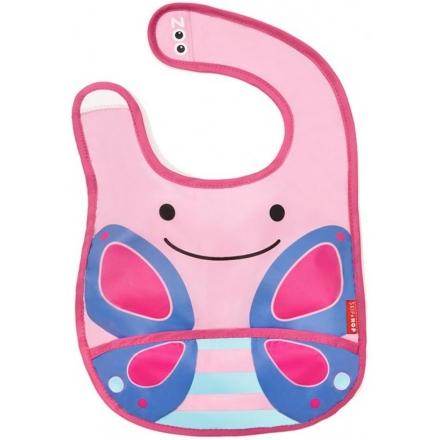 SKIP HOP Zoo Tuck-Away Bib - Butterfly