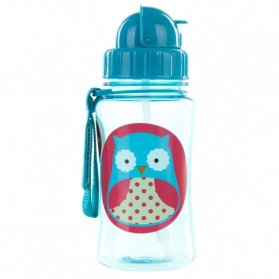 Skip Hop Zoo Straw Bottle - Owl (350ml/2oz)