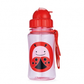 Skip Hop Zoo Straw Bottle - Ladybug (350ml/12oz)