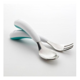 OXO TOT Fork & Spoon Set - AQUA