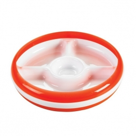 OXO TOT Divided Plate With Removable Ring - Orange