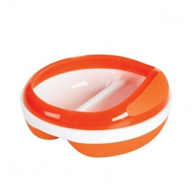 OXO TOT Divided Feeding Dish - Orange
