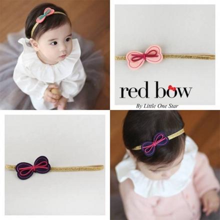 RED BOW HEADWRAP - PRINCESS CARLA
