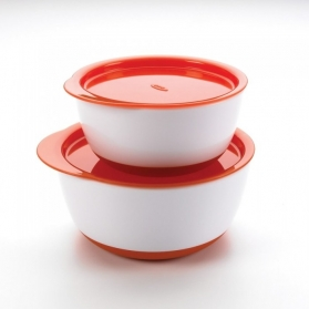 OXO TOT Small & Large Bowl Set with Snap On Lids - Orange