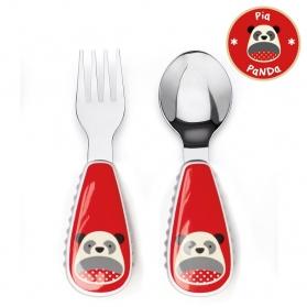SKIP HOP Zootensils - Fork & Spoon - Panda
