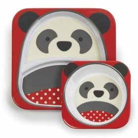 Skip Hop Zoo Tabletop Melamine Set - Panda