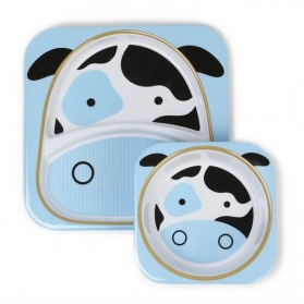 Skip Hop Zoo Tabletop Melamine Set - Cow