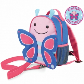 Skip Hop Zoo Let Mini Backpack with Rein - Butterfly
