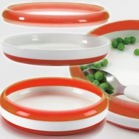 OXO TOT Training Plate with Removable Ring - ORANGE