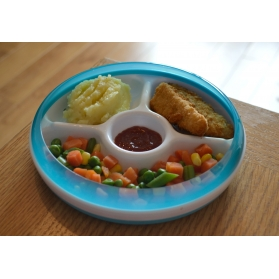 OXO TOT Divided Plate With Removable Ring - Aqua
