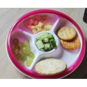 OXO TOT Divided Plate - Pink