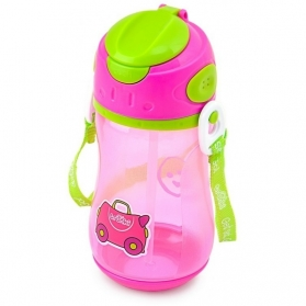 TRUNKI STRAW DRINK BOTTLE 400ml - PINK