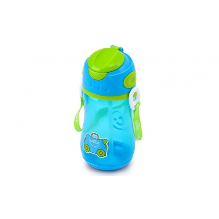 TRUNKI STRAW DRINK BOTTLE 400ml - BLUE