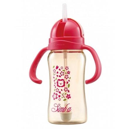 SIMBA PPSU SIPPY CUP 8OZ/240ML - CHERRY BLOSSOMS