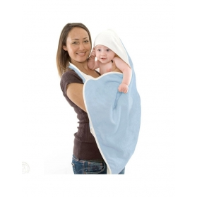 Cuddledry Baby Apron Bath Towel Soft Blue