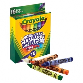 CRAYOLA Ultra-Clean Washable Large Crayons - 16ct