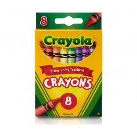 CRAYOLA Nontoxic Crayons - 8ct