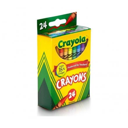 CRAYOLA Nontoxic Crayons - 24ct
