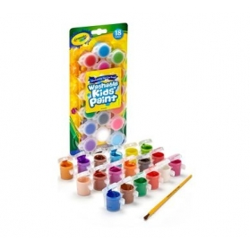 Crayola Washable Paint Pots with Brush - 18 ct.