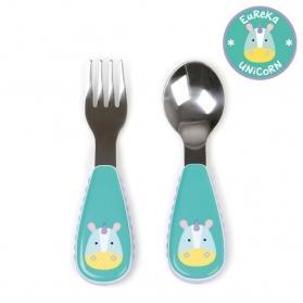SKIP HOP Zootensils - Fork & Spoon - Unicorn
