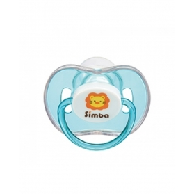 SIMBA Candy Thumb Shaped Pacifier with Case - Blue (0m+/6m+)