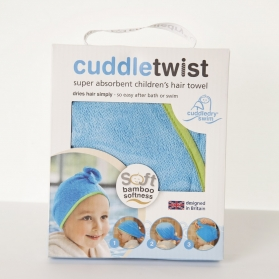 Cuddletwist Hair Towel - Blue/Lime