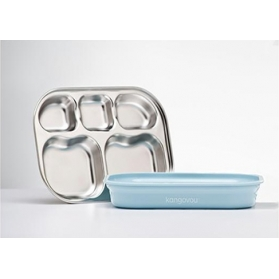 KANGOVOU Compartment Plate - Frosted Blueberry