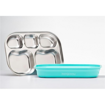 KANGOVOU Compartment Plate - Iced Mint