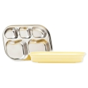 KANGOVOU Compartment Plate - Lemon Zest