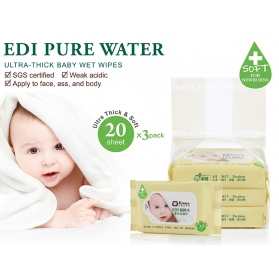 SIMBA Edi Pure Water Ultra-Thick Baby Wet Wipes (SMALL PACK)