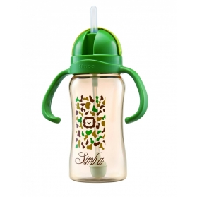 SIMBA PPSU SIPPY CUP STRAW BOTTLES 8OZ/240ML - CAMOUFLAGE
