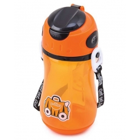 TRUNKI STRAW DRINK BOTTLE 400ml - ORANGE
