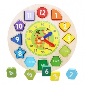 Educational Wooden Toys - Shape Sorting Clock